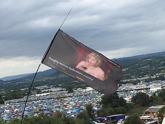 These Glastonbury flags are hilarious