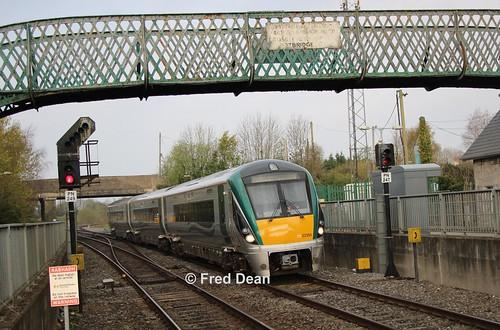 Irish Rail ICR Set 55 in Portarlington.