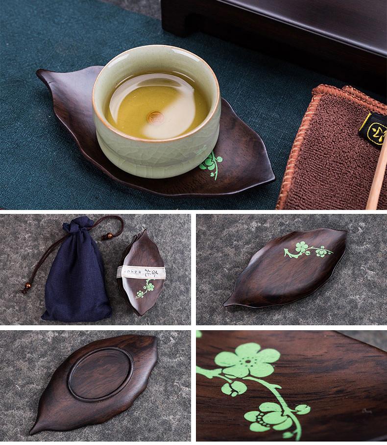 Tea Cup Mat  made from Ebony / Bamboo