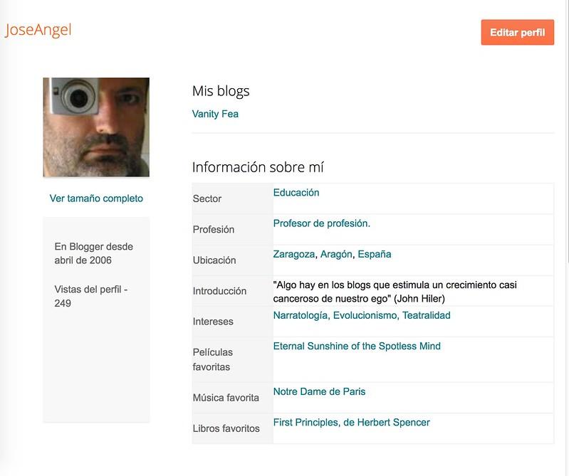 Perfil de Blogger