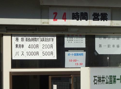 石神井公園の駐車場