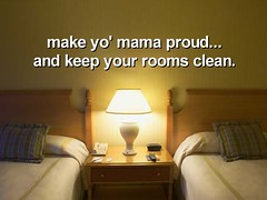 Camp Rule:  Keep your dorm room clean