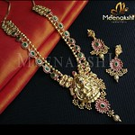 Royal Temple Necklace Set From Meenakshi Jewellers
