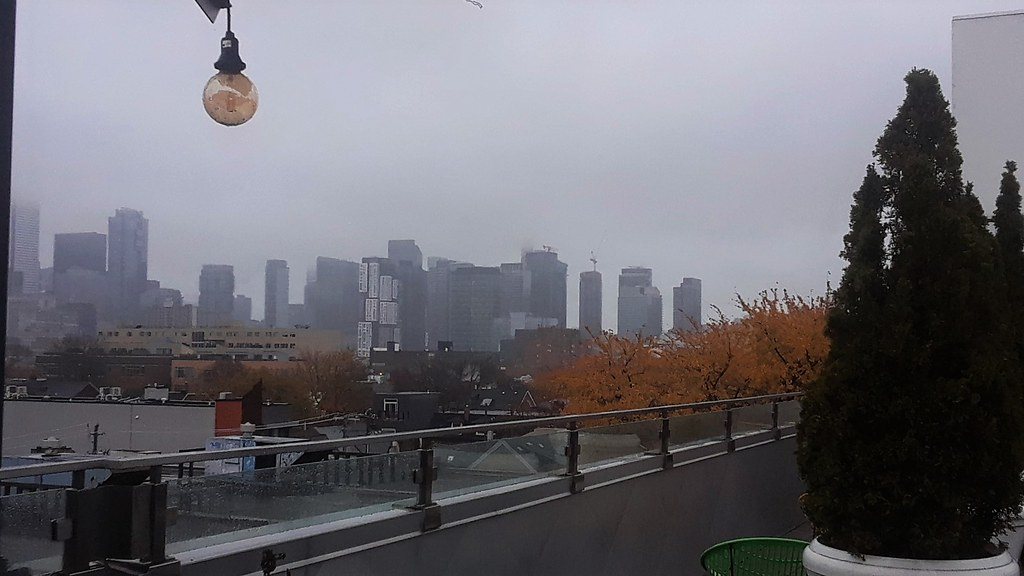 Low cloud hiding the CN Tower