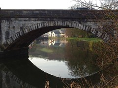 Through the bridge's eye