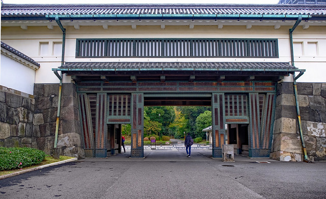 Photo:Entrance gates - East Garden, Tokyo Imperial Palace, Tokyo, Japan By Geoff Whalan