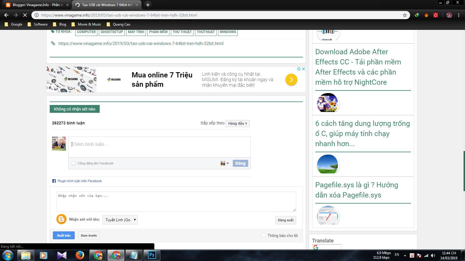 Chen binh luan facebook vao website blog 4