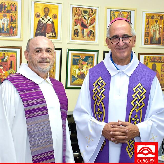 Dom Décio celebra missa na sede do Grupo CORDIS