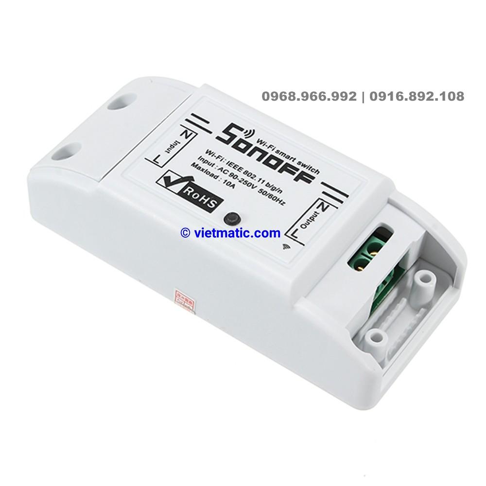 Bộ công tắc điều khiển thông minh chuẩn Wifi, 1 kênh Sonoff 8