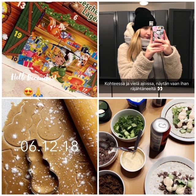 Joulukuun Snapchat kooste