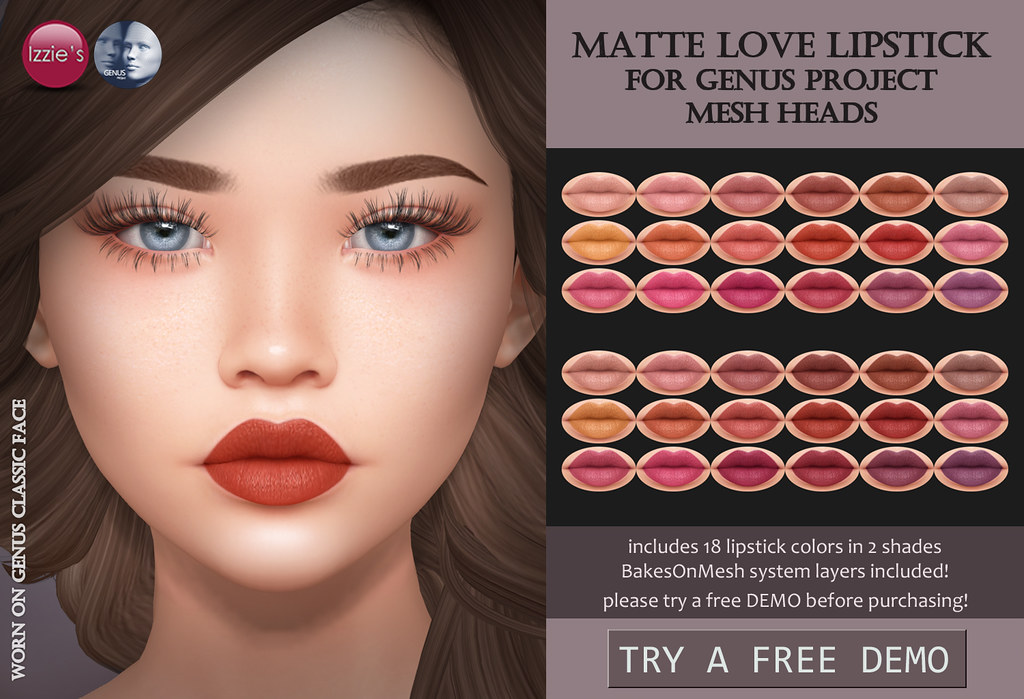 Genus Matte Love Lipstick (TLC) - TeleportHub.com Live!