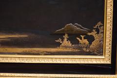 Decorative corner on an antique cabinet