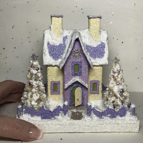 Ivory and Lavender Putz House