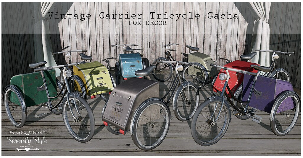 Serenity Style- Vintage Carrier Tricycle AD