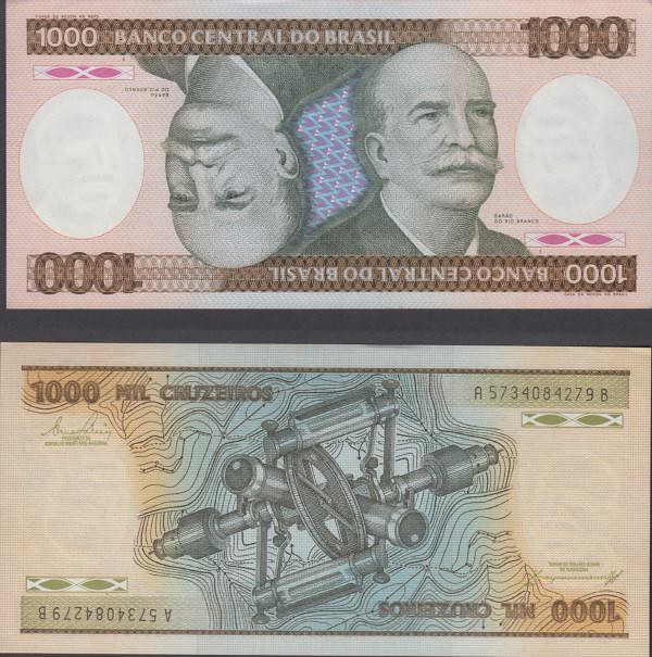 1000 cruzeiros Brazília 1984, P201b