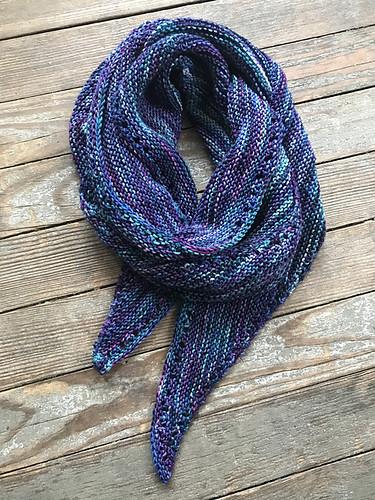 monchou's Kari Shawl knit with Malabrigo Arroyo in Whales Road