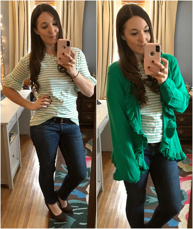 mjc sugar sugar tunic spring to mind sweater green cardigan