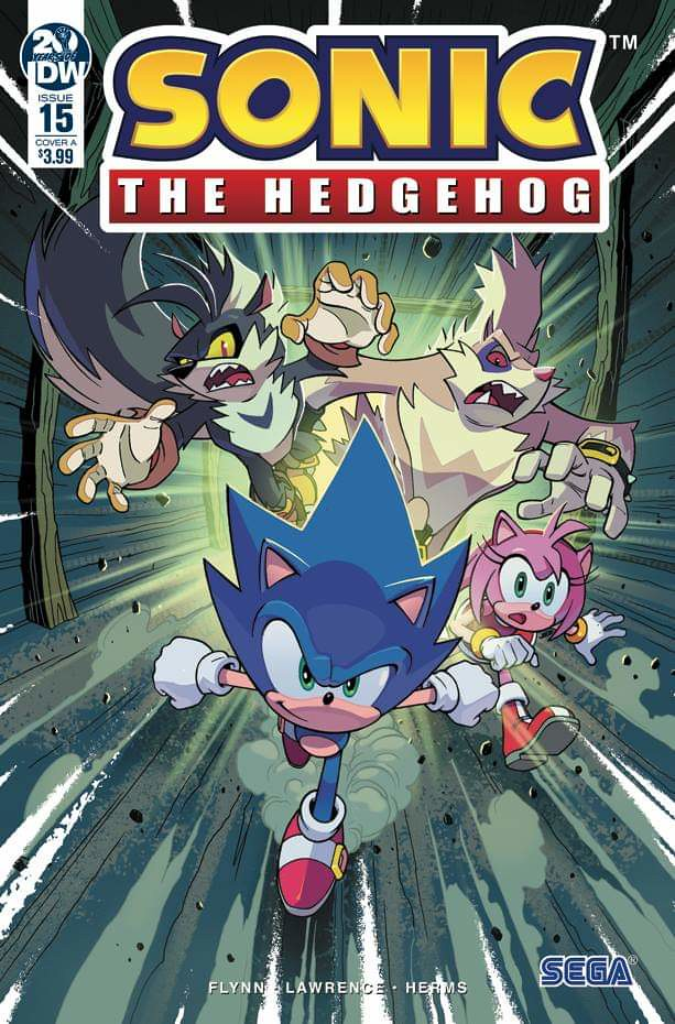 IDW Sonic the Hedgehog Amy Rose Issue 15 Cover A