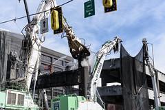 Scene from Alaskan Way Viaduct demolition