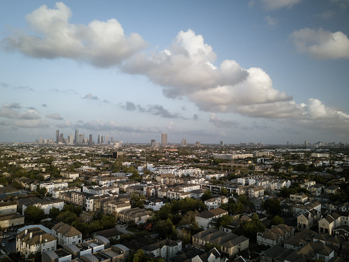 dji mavic arial landscape houston suburbs skyline