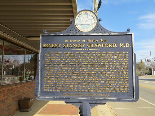 Ernest Stanley Crawford MD Marker Evergreen AL