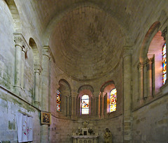Side Chapel of the 11 century Church at Vouvant