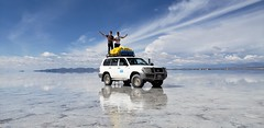 From Uyuni at 3,700 meters (12,139 ft) above sea level, Bolivia to San Pedro de Atacama at 2,407 meters (7,900 ft) above sea level, Chile.