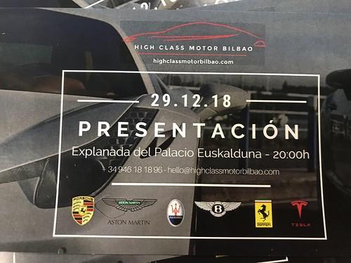 Presentación de High Class Motor Bilbao en el Palacio Euskalduna