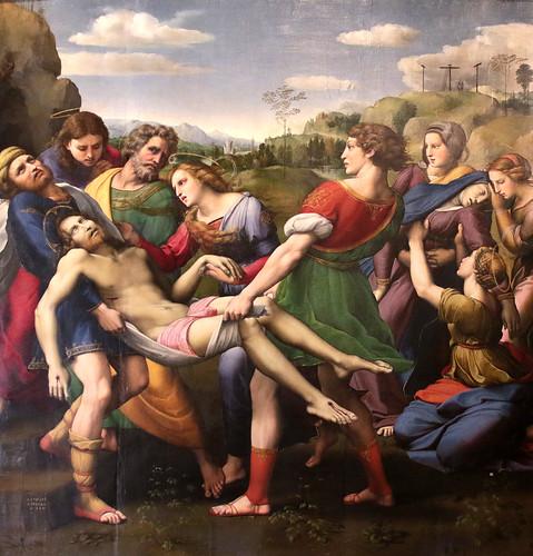 Raffaello Sanzio (Urbino 1483 - Roma 1520)) - Deposizione di Cristo (Deposizione Borghese - scomparto principale della Pala Baglioni) - 1507 - Galleria Borghese Roma