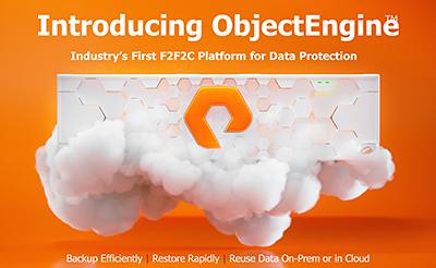 Pure Storage boasts that its newly-launched ObjectEngine is the industry's first cloud-native data protection built for flash.