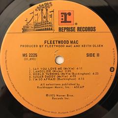 FLEETWOOD MAC:FLEETWOOD MAC(LABEL SIDE-B)