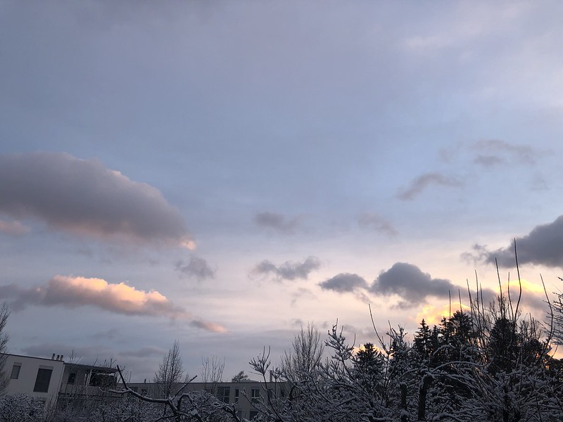 Afternoon Snow Sky