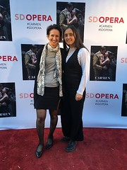 Ingrid and Amelie et the San Diego Opera for #Carmen #sdopera