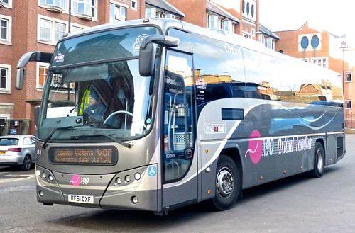 KF61 OXF 'Oxford Bus Company' No. 81 'X90 Oxford-London'. Scania K360EB / Plaxton Panther on Dennis Basford's railsroadsrunways.blogspot.co.uk'