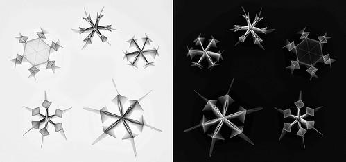 3D-Snowflake (Joan Appel and Toshikazu Kawasaki)