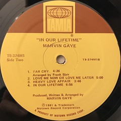 MARVIN GAYE:IN OUR LIFETIME(LABEL SIDE-B)