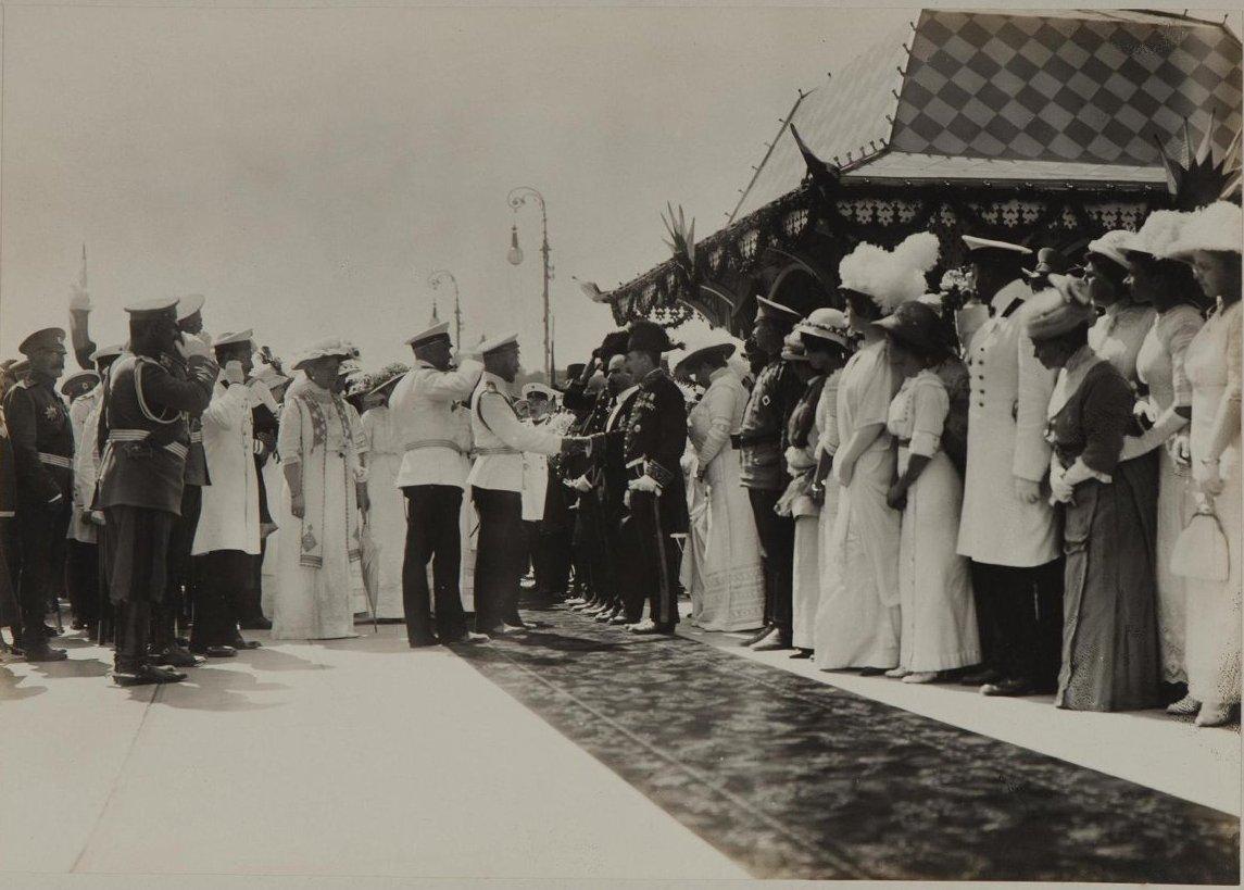 1908. Встреча императора Николая II с президентом Франции Фальером