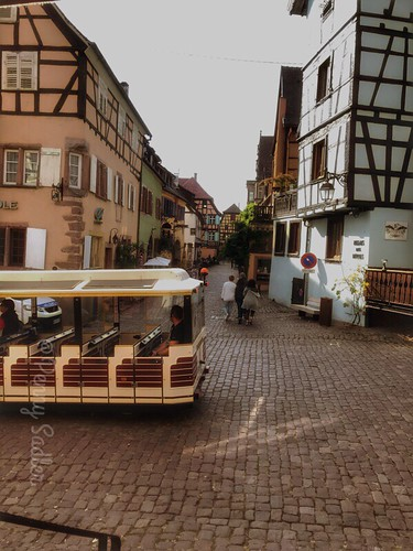 The tourist train will take you on a tour of the town and vineyards from April to October. All aboard! From The History and Architecture of Riquewihr in Photos