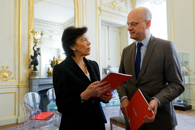 Entretien du ministre Jean-Michel Blanquer avec Madame Isabel Celaa Dieguez, ministre espagnole de l'Éducation et de la Formation professionnelle