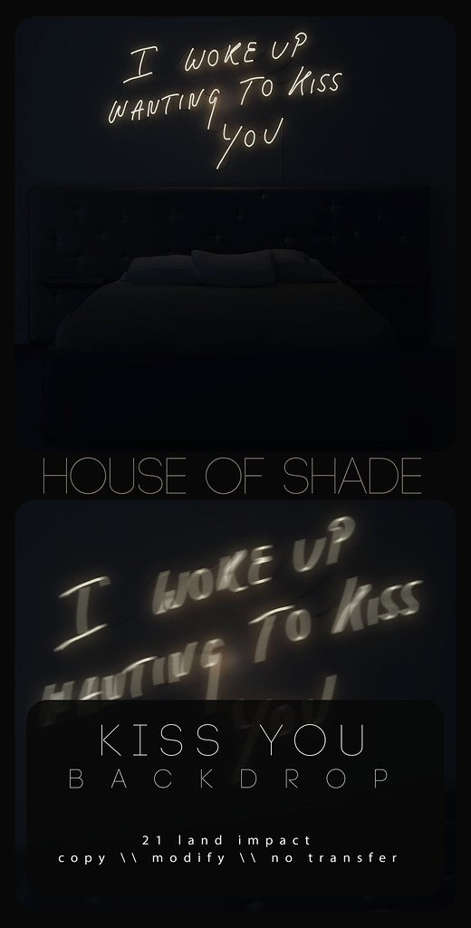 House of Shade – Kiss You Backdrop
