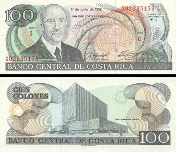 100 Colones Kostarika 1992, P258
