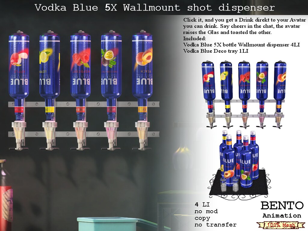 No59 Vodka Blue Wallmount dispenser