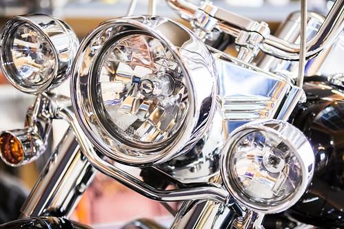 Harley Davidson Motorcycle Headlight Detail