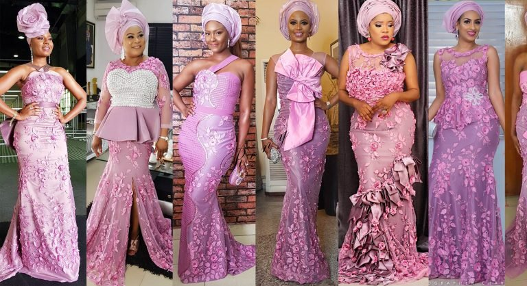 Elegant Asoebi Styles at the wedding 2019