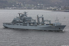 German Navy (Bundesmarine) Berlin-class, Type-702 replenishment ship FGS Berlin, A1411; Firth of Clyde, Scotland
