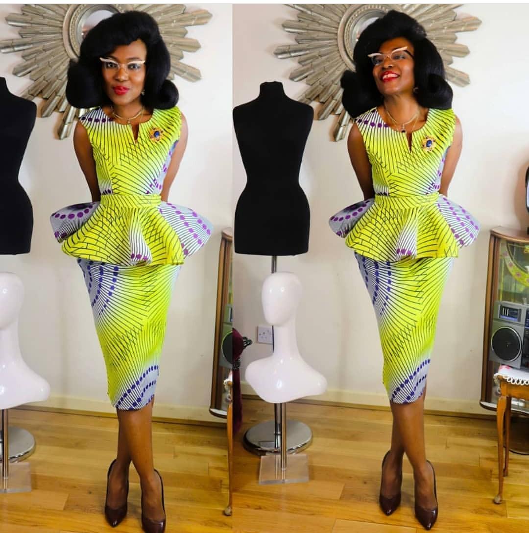 Trending Ankara Skirt & Blouse 2020 4