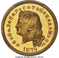 1879 $4 Flowing Hair obverse