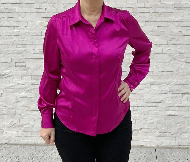 Pink silk shirt 3