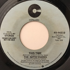 THE IMPRESSIONS:THIS TIME(LABEL SIDE-A)