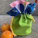 Yen sewed a reversible Mandarin Orange bag